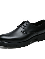 cheap -Men's Shoes Leatherette Spring Summer Formal Shoes Oxfords for Wedding Party & Evening Black