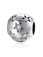 cheap -DIY Jewelry 1 pcs Beads Silver Imitation Diamond Silver Ball Star Bead 0.9 DIY Bracelet Necklace