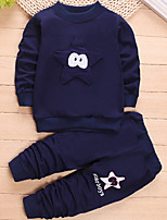 cheap -Boys' Sports Patchwork Clothing Set,Cotton Spring Long Sleeve Casual Navy Blue
