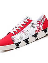 cheap -Men's Shoes PU Fall Comfort Sneakers for Casual Black/White Blue Red Black