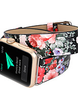 abordables -Bracelet de Montre  pour Apple Watch Series 4/3/2/1 Apple Boucle Moderne Vrai Cuir Sangle de Poignet