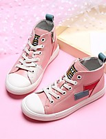 cheap -Boys' Girls' Shoes Synthetic Microfiber PU Spring Fall Comfort Sneakers for Casual Pink Beige Black