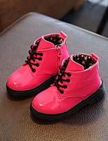 Недорогие -Девочки Мальчики обувь Дерматин Весна Осень Армейские ботинки Удобная обувь Ботинки для Повседневные Черный Желтый Пурпурный