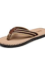 cheap -Men's Shoes Fabric Summer Comfort Slippers & Flip-Flops for Casual Outdoor Burgundy Khaki Gray Black