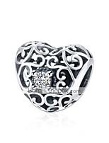 cheap -DIY Jewelry 1 pcs Beads Silver Silver Heart Bead 1.2 DIY Bracelet Necklace