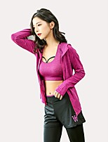 cheap -Women's Activewear Set Long Sleeves Super Slim Breathability Clothing Suits for Yoga Running/Jogging Jogging Polyester Slim Grey Fuchsia