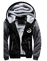 cheap -Men's Plus Size Daily Casual Hoodie Color Block Hooded Hoodies Micro-elastic Polyester Long Sleeve Winter Fall