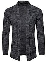 preiswerte -Herren Standard Strickjacke-Alltag Freizeit Solide Hemdkragen Langarm Polyester Winter Herbst Undurchsichtig Mikro-elastisch