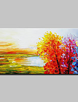 cheap -Hand-Painted Landscape Horizontal,Simple Modern Canvas Oil Painting Home Decoration One Panel