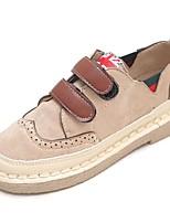 preiswerte -Damen Schuhe PU Frühling Komfort Sneakers Flacher Absatz Runde Zehe für Normal Schwarz Khaki