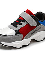 cheap -Boys' Shoes PU Spring Fall Comfort Sneakers for Casual Outdoor Gray Beige Black