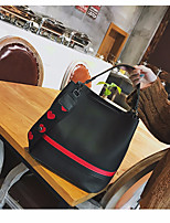 cheap -Women Bags PU Shoulder Bag Buttons for Casual All Season Brown Black