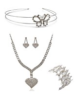 cheap -Women's Headwear Bridal Jewelry Sets Rhinestone Fashion European Wedding Party Imitation Diamond Alloy Heart Butterfly Body Jewelry 1