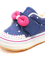 cheap -Girls' Shoes Fabric Spring Fall Comfort Flower Girl Shoes Sneakers for Casual Pink Peach Dark Blue