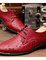 cheap -Men's Shoes Synthetic Microfiber PU Spring Fall Comfort Oxfords for Casual Blue Red Black