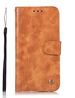 baratos -Capinha Para Samsung Galaxy S8 Plus S8 Carteira Porta-Cartão Com Suporte Flip Corpo Inteiro Côr Sólida Rígida Couro Ecológico para S8