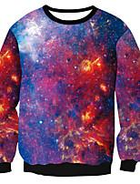 abordables -Quotidien Galaxie Col Arrondi Micro-élastique Polyester Manches longues Printemps/Automne