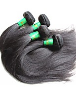 cheap -9a indian remy human hair straight weave 4 bundles 400g lot sale for one full head weaving real indian virgin hair extensions natural black color