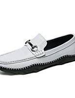 Недорогие -Муж. обувь Наппа Leather Все сезоны Удобная обувь Мокасины и Свитер для Повседневные Офис и карьера Белый Черный