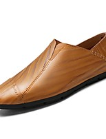 cheap -Men's Shoes Rubber Spring Fall Comfort Loafers & Slip-Ons for Outdoor Brown Yellow Black