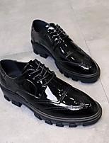 baratos -Homens sapatos Couro Ecológico Primavera Outono Conforto Oxfords para Preto