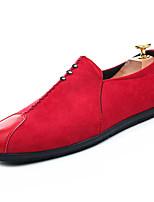 Недорогие -Муж. обувь Искусственное волокно Весна Осень Светодиодные подошвы Мокасины и Свитер для Повседневные Черный Серый Красный
