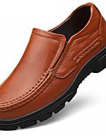 baratos -Homens sapatos Pele Napa Primavera Outono Conforto Sapatos formais Oxfords para Casual Festas & Noite Preto Marron