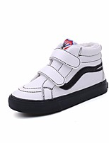cheap -Girls' Shoes Synthetic Microfiber PU Canvas Spring Fall Comfort Sneakers for Casual Black White