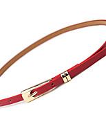 cheap -Women's Leather Waist Belt,Red Blushing Pink Yellow Casual