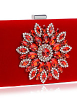 preiswerte -Damen Taschen Polyester Abendtasche Kristall Verzierung für Veranstaltung / Fest Alle Jahreszeiten Blau Schwarz Rote