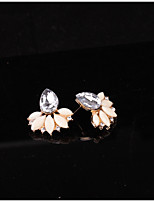 cheap -Women's Stud Earrings Lovely Fashion Crystal Alloy Drop Flower Jewelry Party Daily
