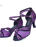 "cheap -Women's Latin Suede Heel Training Flared Heel Purple 1"" - 1 3/4"" Customizable"