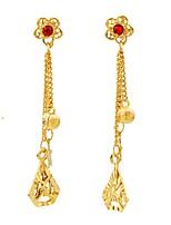 cheap -Women's Drop Earrings Hoop Earrings Tassel Sweet Fashion Gold Plated Geometric Jewelry Wedding Party