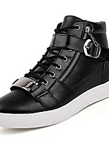 cheap -Shoes Synthetic Microfiber PU Spring Fall Light Soles Sneakers for Casual White Black Dark Blue