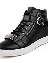 preiswerte -Schuhe Künstliche Mikrofaser Polyurethan Frühling Herbst Leuchtende Sohlen Sneakers für Normal Weiß Schwarz Dunkelblau