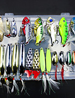 cheap -21 pcs Fishing Lures Metal Bait g/Ounce mm inch,metal Sea Fishing Fly Fishing Bait Casting Ice Fishing Spinning Jigging Fishing