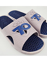Недорогие -Для мужчин обувь ПВХ Весна Осень Удобная обувь Тапочки и Шлепанцы для Повседневные Черный Серый Синий