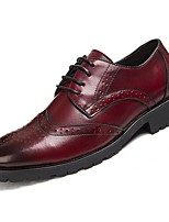 cheap -Men's Shoes Cowhide Spring Fall Comfort Oxfords for Casual Burgundy Brown Black