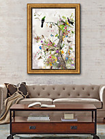 cheap -Floral/Botanical Illustration Wall Art,PVC Material With Frame For Home Decoration Frame Art Living Room Indoor
