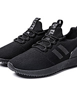 cheap -Men's Shoes Tulle Spring Fall Comfort Sneakers for Casual Gray Black