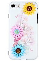abordables -Funda Para Apple iPhone 6 iPhone 7 Diseños Manualidades Cubierta Trasera Flor Dibujo 3D Suave TPU para iPhone 7 Plus iPhone 7 iPhone 6s