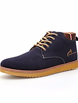 cheap -Men's Shoes Nubuck leather Spring Fall Bootie Comfort Boots Booties/Ankle Boots for Casual Black Brown Blue