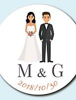 economico -Floreale Giardino Adesivi, etichette e Tag - 10 Tonda Quadrato Circolare Forniture per decorazioni nuziali Busta Sticker