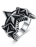 cheap -Men's Statement Ring , Vintage Rock European Stainless Steel Costume Jewelry Party Club