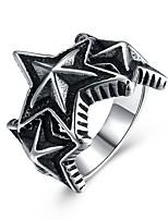 Недорогие -Муж. Массивные кольца , Винтаж европейский Рок Нержавеющая сталь Бижутерия Для вечеринок Для клуба