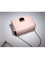 cheap -Women Bags Cowhide Shoulder Bag Buttons for Casual All Season Yellow Blushing Pink Orange Black