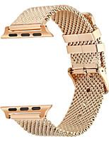 economico -Cinturino per orologio  per Apple Watch Series 3 / 2 / 1 Apple Custodia con cinturino a strappo Chiusura moderna Acciaio inossidabile