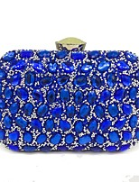 cheap -Women Bags Polyester Evening Bag Crystal Detailing Sequins for Wedding Event/Party All Season Red Silver Black Gold Blue
