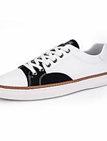 Недорогие -Муж. обувь Полиуретан Весна Осень Удобная обувь Кеды Животные принты для Повседневные Серый Розовый и белый Черно-белый