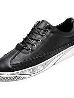 cheap -Shoes Leatherette Spring Fall Comfort Sneakers for Casual Black Gray Brown